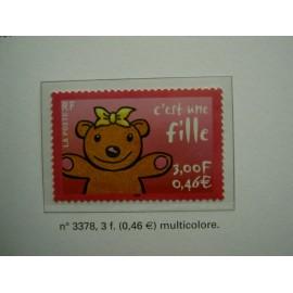 France 3378 ** ours  en 2001
