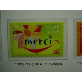 France 3379 ** Merci  en 2001