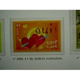 France 3380 ** Oui  en 2001