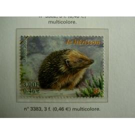 France 3383 ** Herisson  en 2001