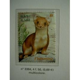 France 3384 ** Hermine  en 2001