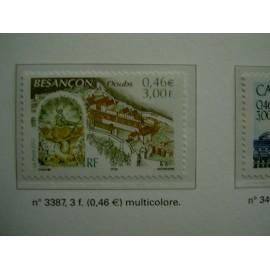 France 3387 ** Besançon  en 2001