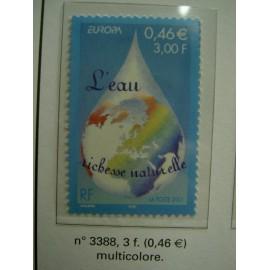 France 3388 ** Eau  en 2001