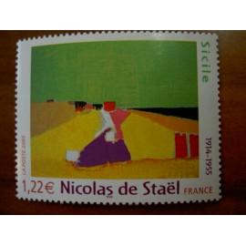 France 3762 ** Tableau Sicile  Stael  en 2005