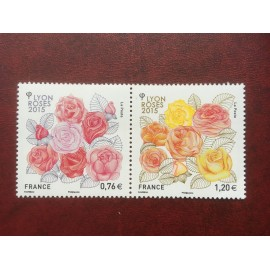 France 4957-4958 ** Société des roses  en 2015