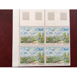 France 2136b ** tableaux Pissaro arbre vert tenant à normal  en 1981
