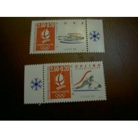 France 2679a-2680a ** JO 1992 Papier Brillant en 1992
