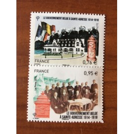 France 4933-4934 ** Belgique gouvernement Sainte Adresse  en 2015
