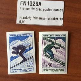 France  1326-1327 non dentelé Chamonix Ski en 1962
