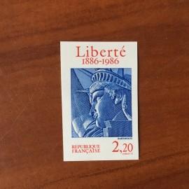 France  2421 non dentelé Statue Liberté en 1986