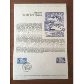 Document Officiel 1788 Gentiane Glacier  1974 num 06-74