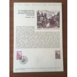 Document Officiel 1798 Colmar  1974 num 13-74