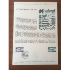 Document Officiel 1802 TGV turbotrain  1974 num 20-74