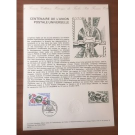 Document Officiel 1817 UPU  1974 num 24-74