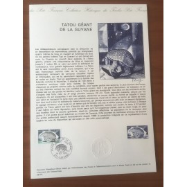 Document Officiel 1819 Tatou Guyane  1974 num 28-74