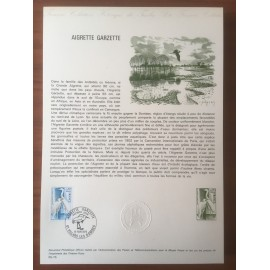 Document Officiel 1820 Aigrette bird  1974 num 04-75