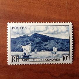 Comores 1 ** MNH Baie D'anjouan en 1950