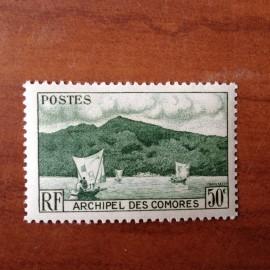 Comores 2 ** MNH Baie D'anjouan en 1950
