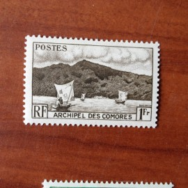 Comores 3 ** MNH Baie D'anjouan en 1950