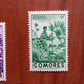 Comores 4 ** MNH Femme indigène en 1950