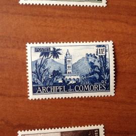 Comores 9 ** MNH Mosquée en 1950