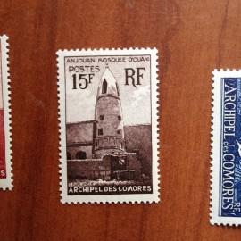 Comores 10 ** MNH Mosquée en 1950