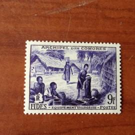 Comores 14 ** MNH Fides en 1956