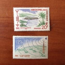 Comores 17-18 ** MNH Radiodiffusion en 1960