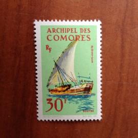 Comores 34 ** MNH Bateau Boutre en 1964