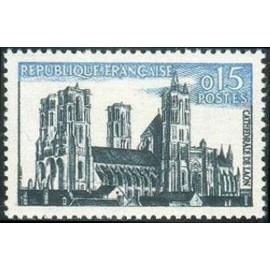 France Yvert Num 1235 ** cathedrale Caen  1960