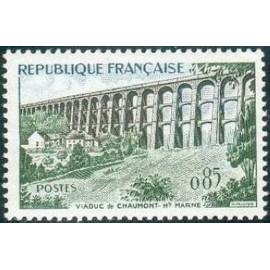 France Yvert Num 1240 ** Viaduc Chaumont  1960