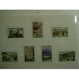 France Yvert Num 1235-1241 ** Serie touristique  1960
