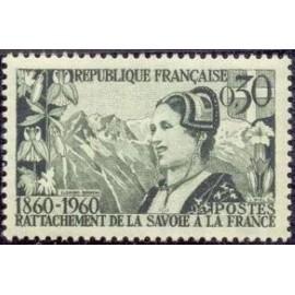 France Yvert Num 1246 ** Savoie  1960