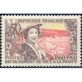 France Yvert Num 1247 ** Nice  1960