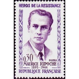 France Yvert Num 1250 ** Resistance Ripoche  1960