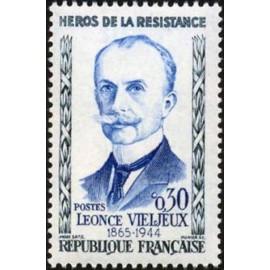 France Yvert Num 1251 ** Resistance Vieljeux  1960