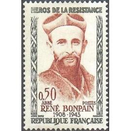 France Yvert Num 1252 ** Resistance Bonpain  1960