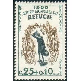France Yvert Num 1253 ** Refugié  1960