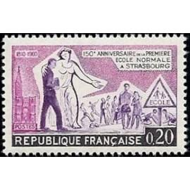 France Yvert Num 1254 ** Strasbourg ecole  1960