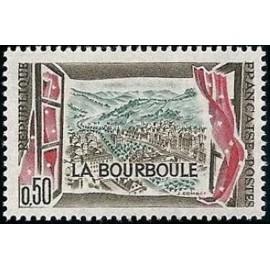 France Yvert Num 1256 ** La Bourboule  1960