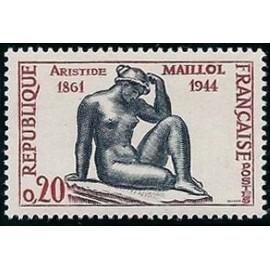 France Yvert Num 1281 ** Aristide maillol  1961