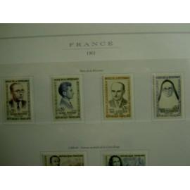 France Yvert Num 1288-1291 ** Resistance  1961