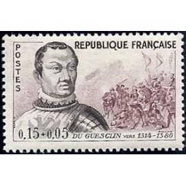 France Yvert Num 1295 ** Du Guesclin  1961