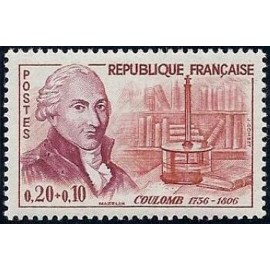 France Yvert Num 1297 ** Coulomb  1961