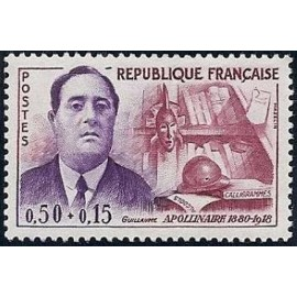 France Yvert Num 1300 ** Guillaume Apollinaire  1961