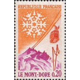 France Yvert Num 1306 ** Mont Dore  1961