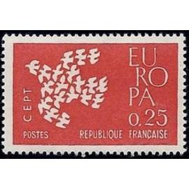 France Yvert Num 1309 ** Europa  1961