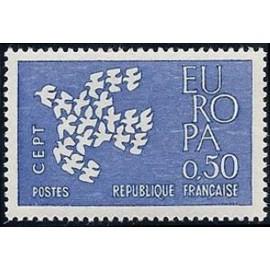 France Yvert Num 1310 ** Europa  1961