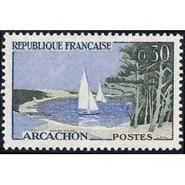 France Yvert Num 1312 ** Arcachon  1961