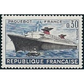 France Yvert Num 1325 ** Paquebot France  1962